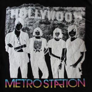 American Apparel Shirts - Official Metro Station Hollywood Band T-Shirt